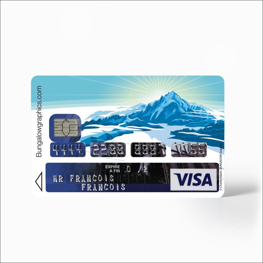 Sticker carte bancaire - Mont Blanc