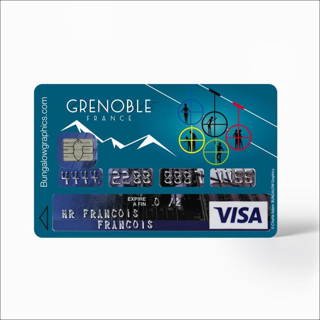 Sticker carte bancaire - Grenoble