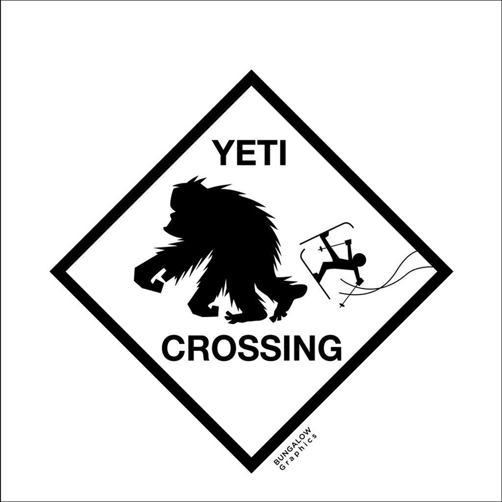 Tea Towel yeti crossing