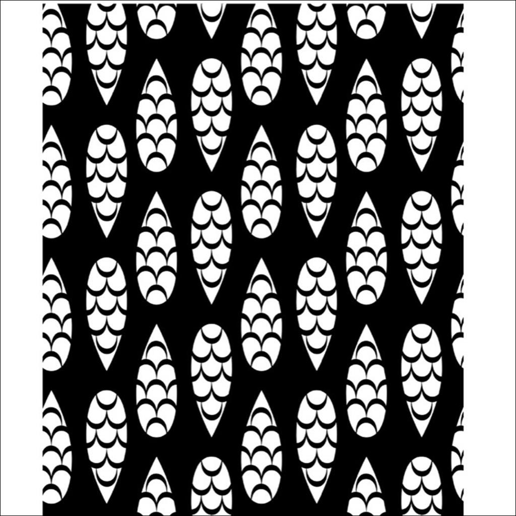 Tea towel pinecones blanc/noir