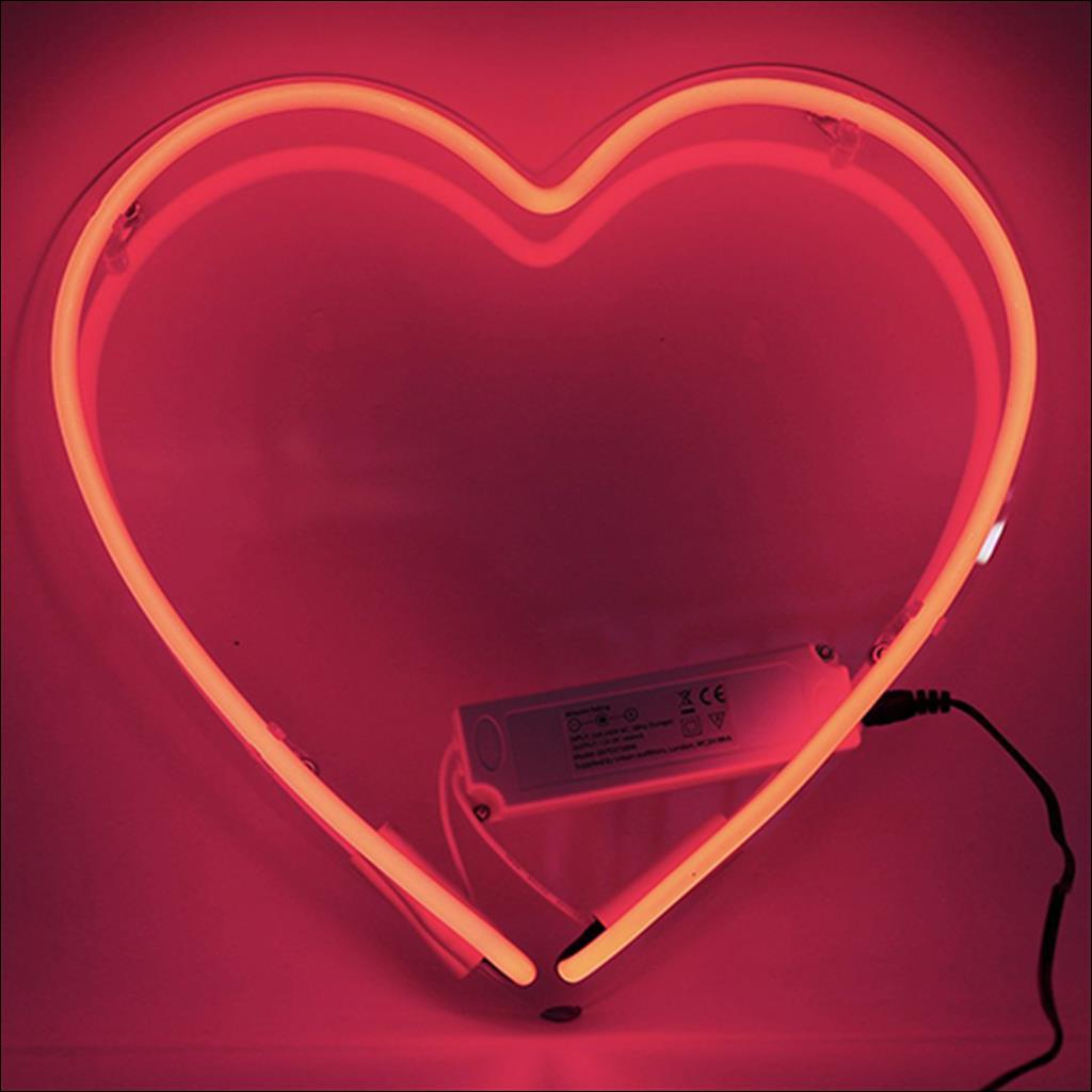 Neon red heart