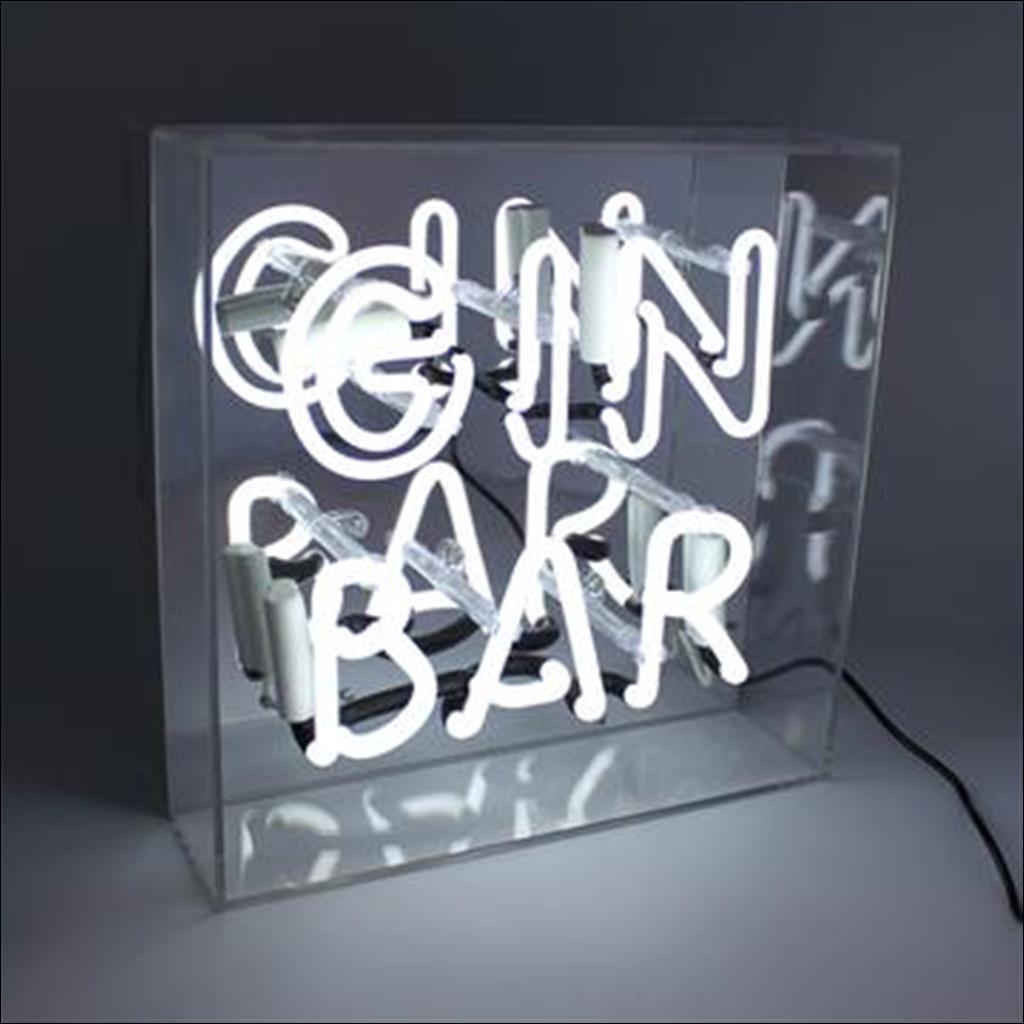 Neon gin bar