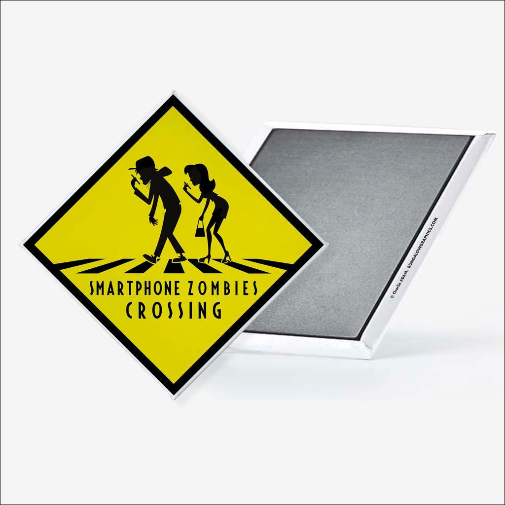 Magnet Smartphone Zombies crossing