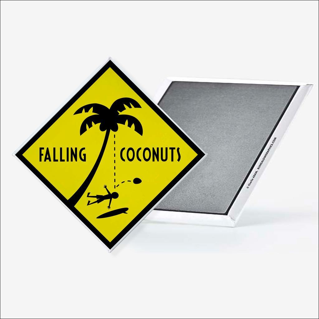 Magnet Falling coconuts