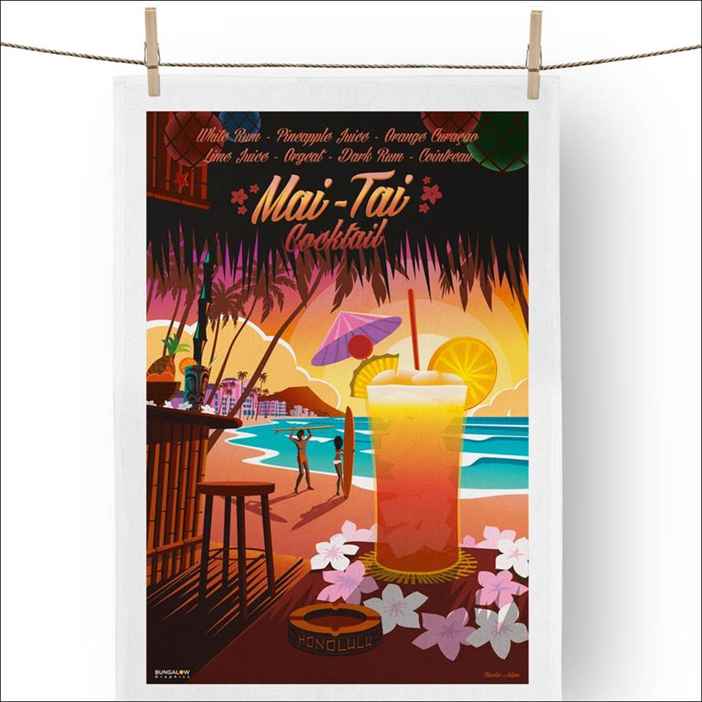 Maï Taï Tea towel