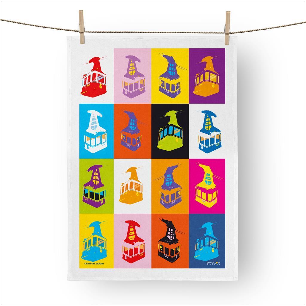 Téléphérique pop Tea towel