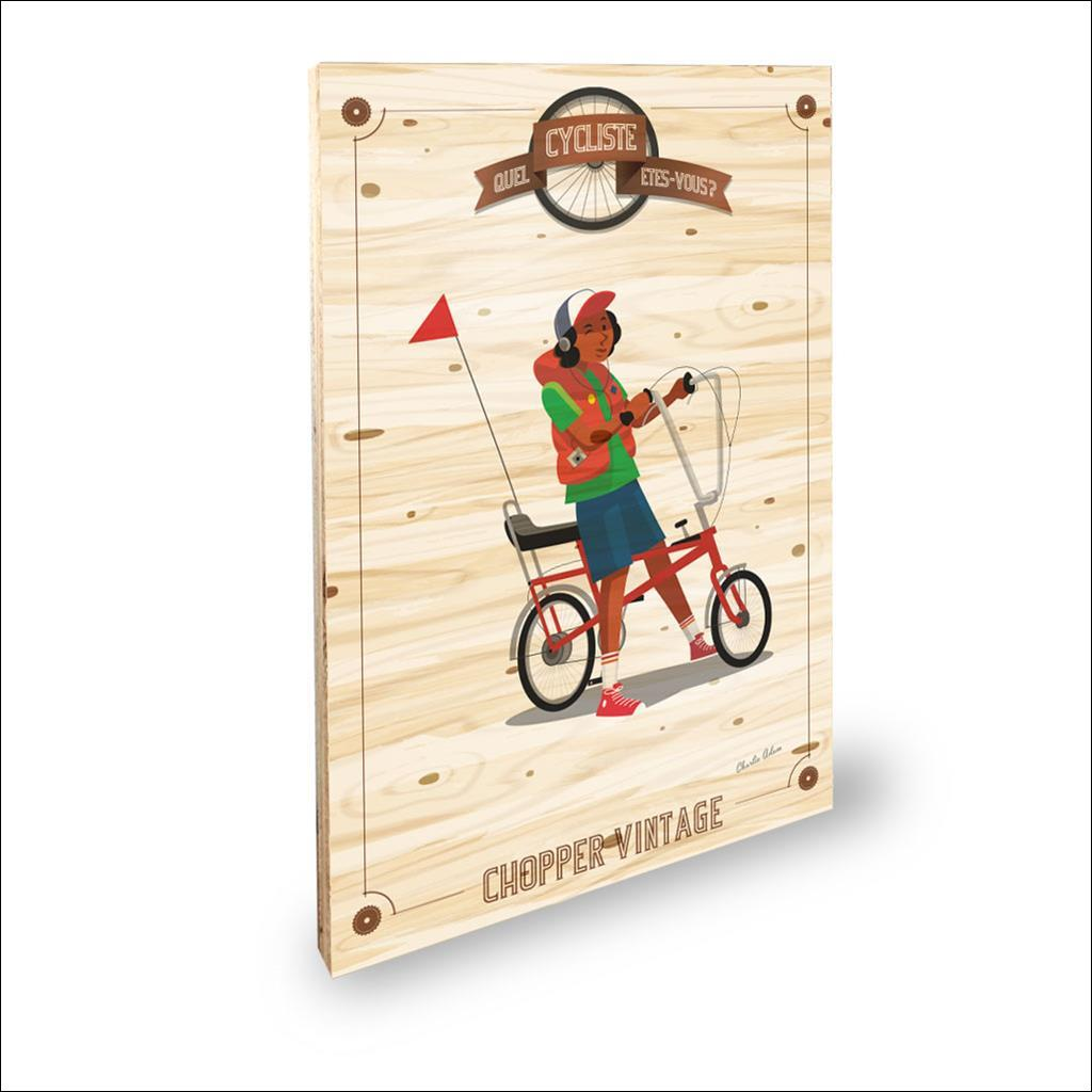 Cycliste Chopper vintage