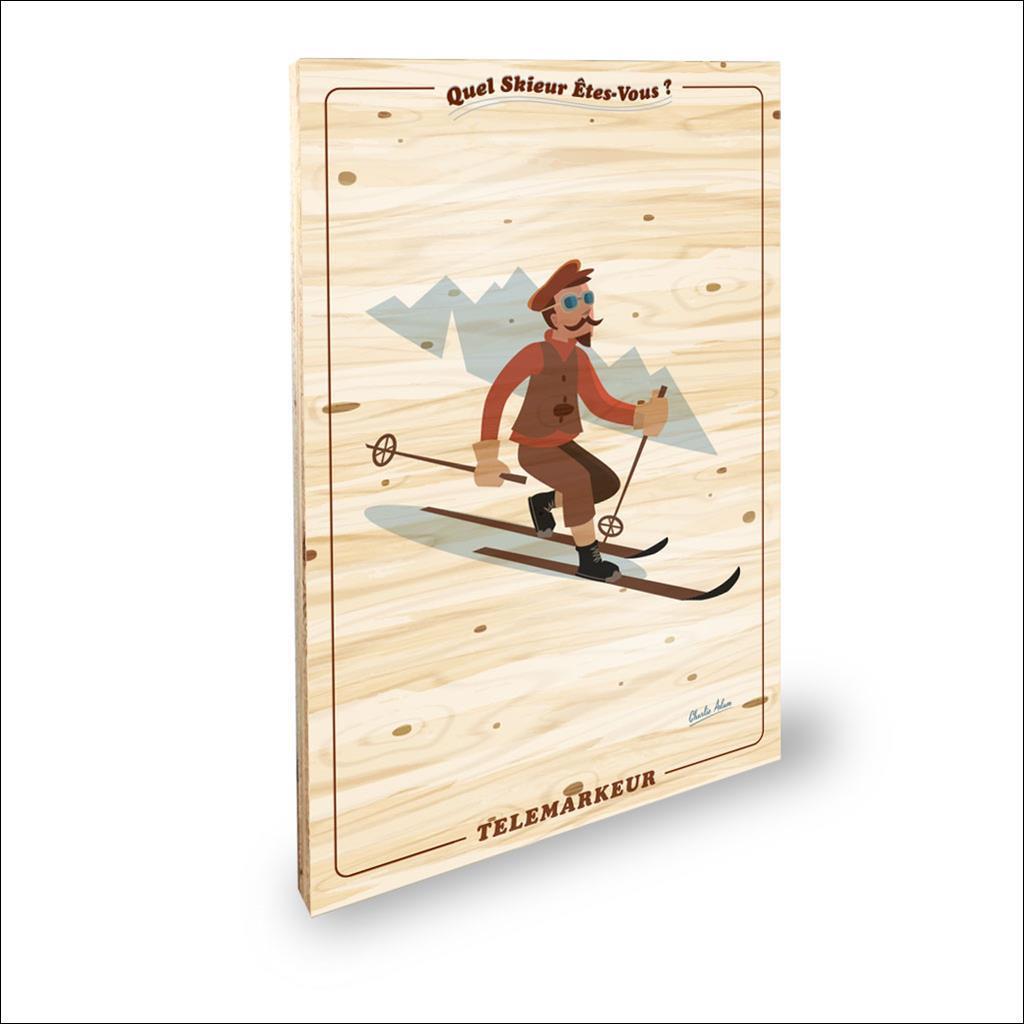 Skieur Telemarkeur