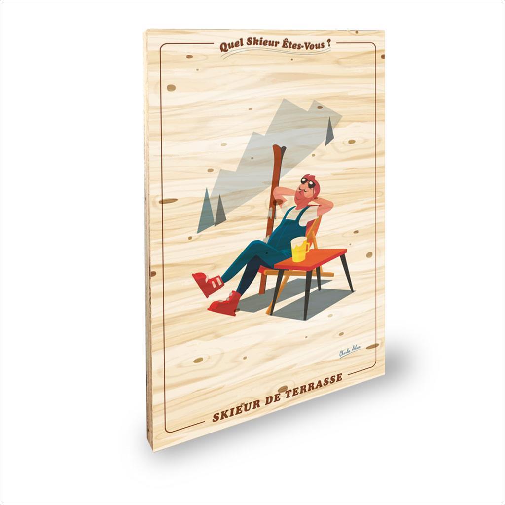 Skieur de terrasse