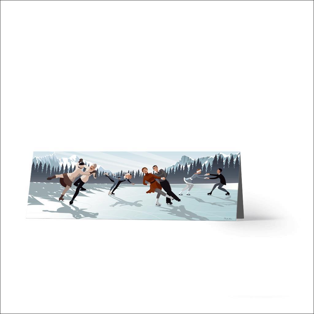 Danse sur glace-Carte de voeux
