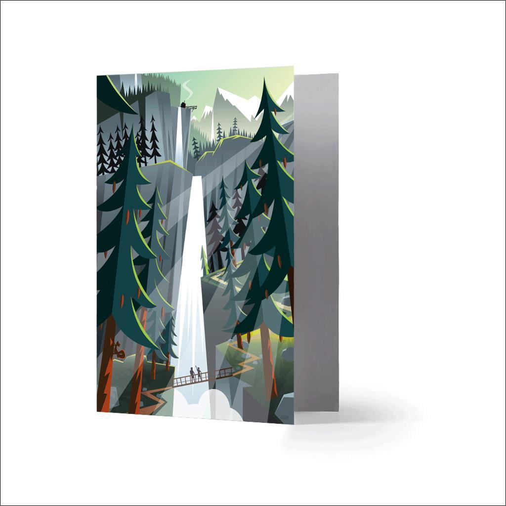 Cascades-Carte de voeux