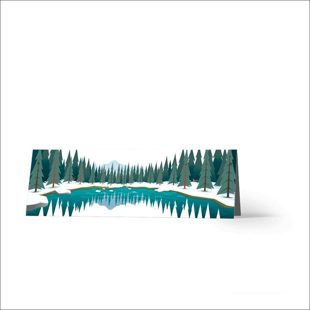 Lac vert Horizontal-Carte de voeux